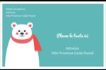 Ours polaire Étiquettes d'expédition - gabarit prédéfini. <br/>Utilisez notre logiciel Avery Design & Print Online pour personnaliser facilement la conception.