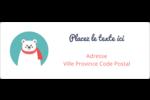 Ours polaire Étiquettes d'adresse - gabarit prédéfini. <br/>Utilisez notre logiciel Avery Design & Print Online pour personnaliser facilement la conception.