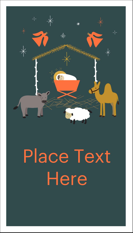 "3½"" x 2"" Business Card - Nativity Scene Animals"