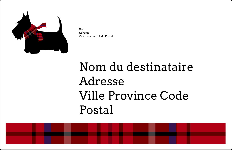 """8½"""" x 5½"""" Étiquettes d'expédition - Terrier écossais"""