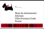 Terrier écossais Étiquettes d'expédition - gabarit prédéfini. <br/>Utilisez notre logiciel Avery Design & Print Online pour personnaliser facilement la conception.