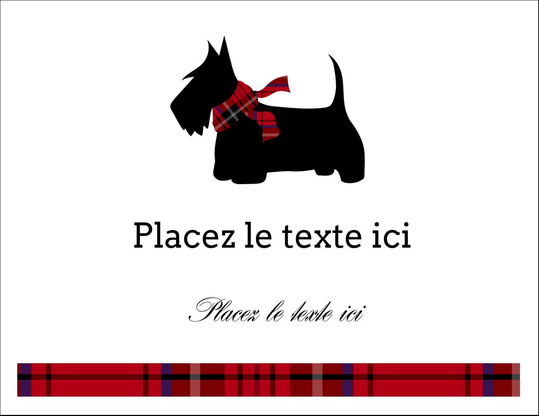 """8½"""" x 11"""" Cartes Et Articles D'Artisanat Imprimables - Terrier écossais"""
