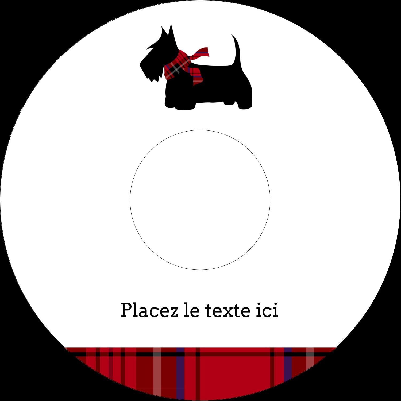 """⅔"""" x 3-7/16"""" Étiquettes de classement - Terrier écossais"""