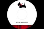 Terrier écossais Étiquettes de classement - gabarit prédéfini. <br/>Utilisez notre logiciel Avery Design & Print Online pour personnaliser facilement la conception.