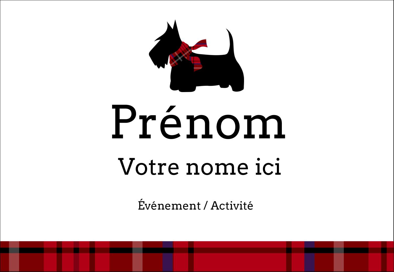 """3⅜"""" x 2⅓"""" Badges - Terrier écossais"""
