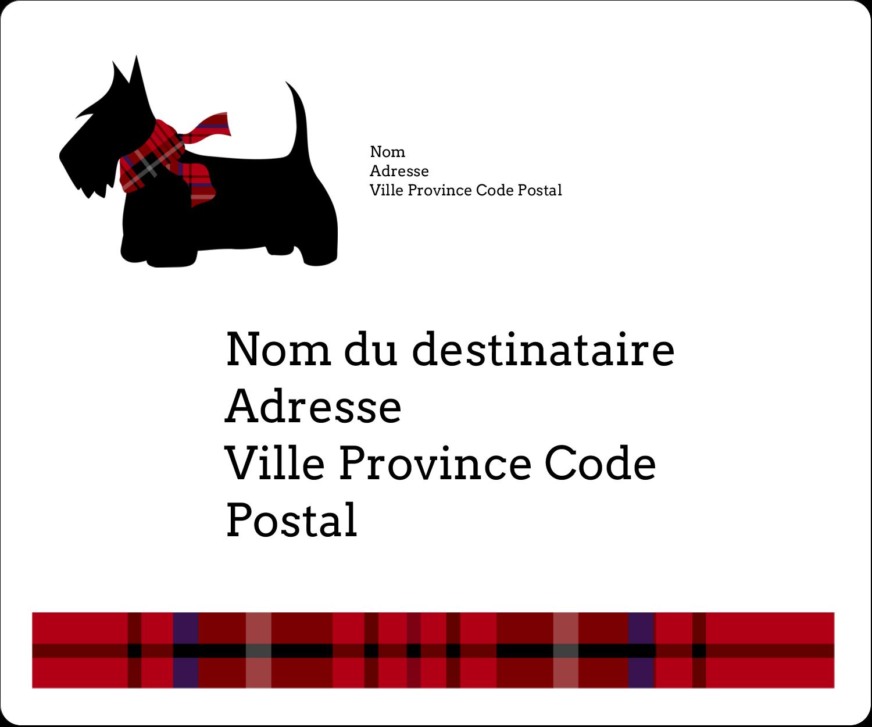 """½"""" x 1¾"""" Étiquettes D'Adresse - Terrier écossais"""