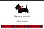 Terrier écossais Cartes de souhaits pliées en deux - gabarit prédéfini. <br/>Utilisez notre logiciel Avery Design & Print Online pour personnaliser facilement la conception.