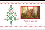 Sapin en point de croix Cartes de souhaits pliées en deux - gabarit prédéfini. <br/>Utilisez notre logiciel Avery Design & Print Online pour personnaliser facilement la conception.