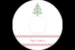 Sapin en point de croix Étiquettes de classement - gabarit prédéfini. <br/>Utilisez notre logiciel Avery Design & Print Online pour personnaliser facilement la conception.