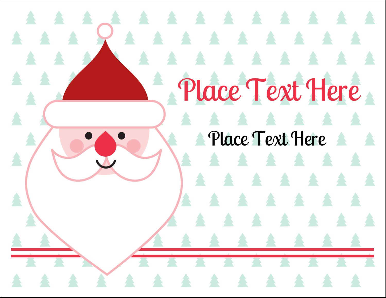 """5½"""" x 4¼"""" Note Card - Santa Claus"""