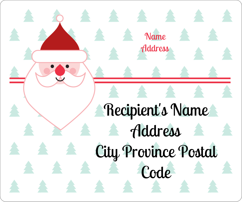 "3⅓"" x 4"" Shipping Label - Santa Claus"