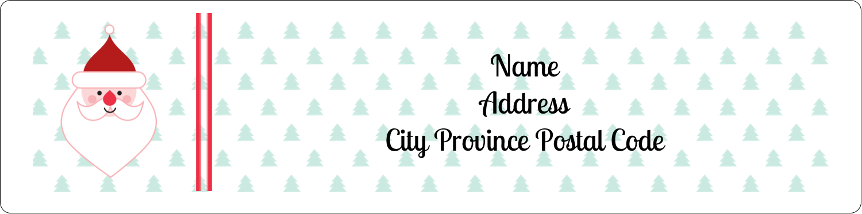 "1"" x 4"" Address Label - Santa Claus"