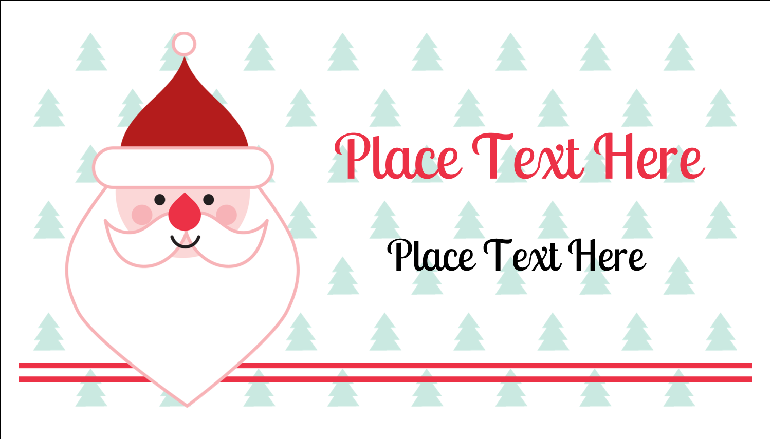 "2"" x 3½"" Business Card - Santa Claus"
