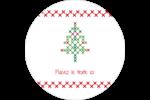 Sapin en point de croix Étiquettes Voyantes - gabarit prédéfini. <br/>Utilisez notre logiciel Avery Design & Print Online pour personnaliser facilement la conception.