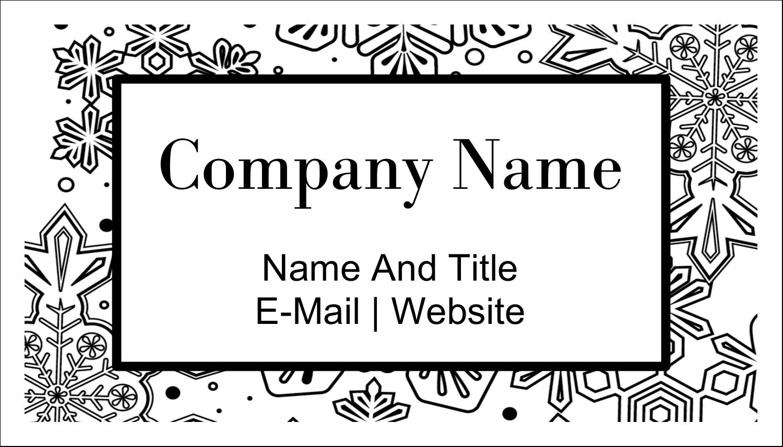 "2"" x 3½"" Business Card - Snow Flake Mandala"