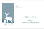 Les gabarits Cerfs en forêt pour votre prochain projet Étiquettes d'expédition - gabarit prédéfini. <br/>Utilisez notre logiciel Avery Design & Print Online pour personnaliser facilement la conception.