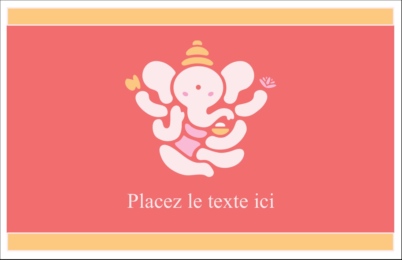 """5½"""" x 8½"""" Cartes de souhaits pliées en deux - Ganesh Divali"""