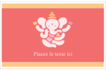 Ganesh Divali  Cartes de souhaits pliées en deux - gabarit prédéfini. <br/>Utilisez notre logiciel Avery Design & Print Online pour personnaliser facilement la conception.