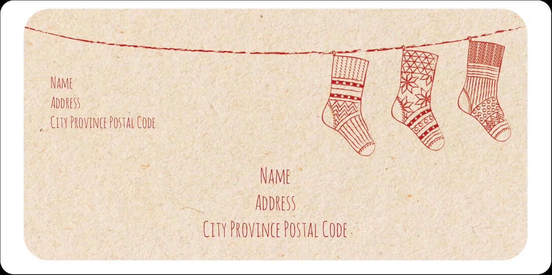 "2"" x 4"" Shipping Label - Hanging Stockings"