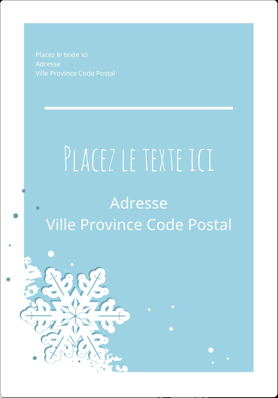 Les gabarits Flocons de neige découpés pour votre prochain projet Étiquettes D'Adresse - gabarit prédéfini. <br/>Utilisez notre logiciel Avery Design & Print Online pour personnaliser facilement la conception.