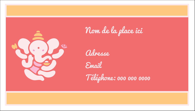 "2"" x 3½"" Carte d'affaire - Ganesh Divali"