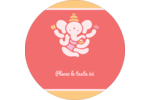 Ganesh Divali  Étiquettes Voyantes - gabarit prédéfini. <br/>Utilisez notre logiciel Avery Design & Print Online pour personnaliser facilement la conception.
