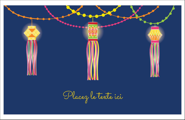 """5½"""" x 8½"""" Cartes de souhaits pliées en deux - Lanternes Divali"""
