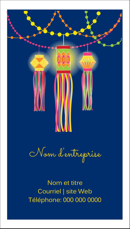 """2"""" x 3½"""" Carte d'affaire - Lanternes Divali"""