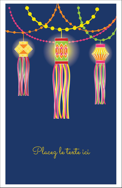 """8½"""" x 5"""" Cartes Et Articles D'Artisanat Imprimables - Lanternes Divali"""