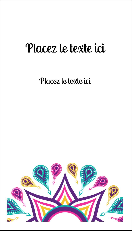 "2"" x 3½"" Carte d'affaire - Ruban Divali"