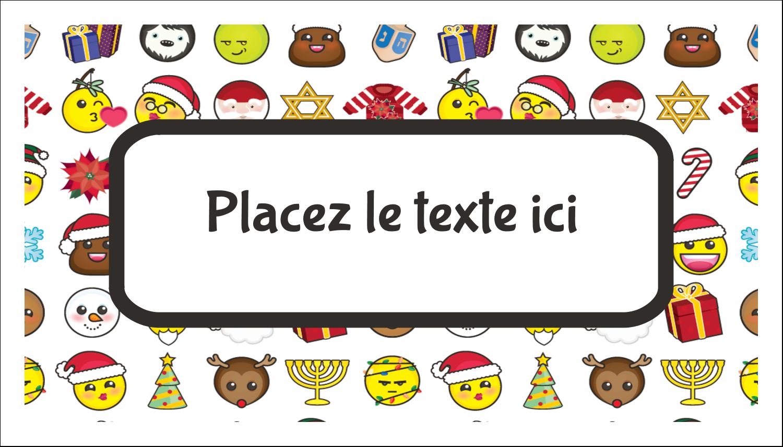 """2"""" x 3½"""" Carte d'affaire - Émojis des Fêtes"""
