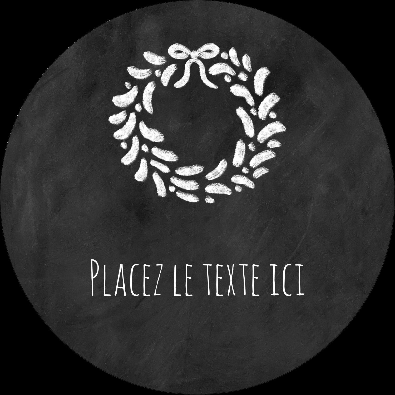 """1½"""" Diameter Étiquettes Voyantes - Guirlande sur tableau noir"""
