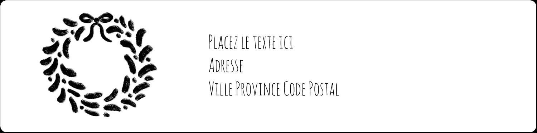 """1⅓"""" x 4"""" Étiquettes d'adresse - Guirlande sur tableau noir"""