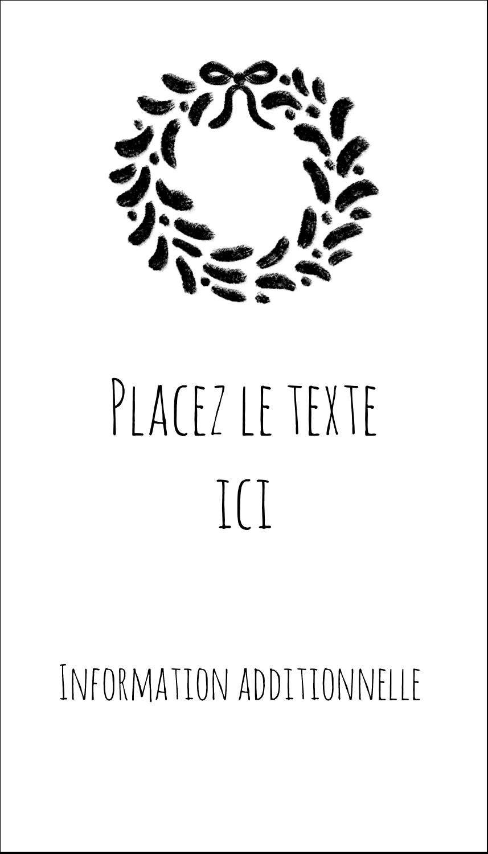 """2"""" x 3½"""" Carte d'affaire - Guirlande sur tableau noir"""