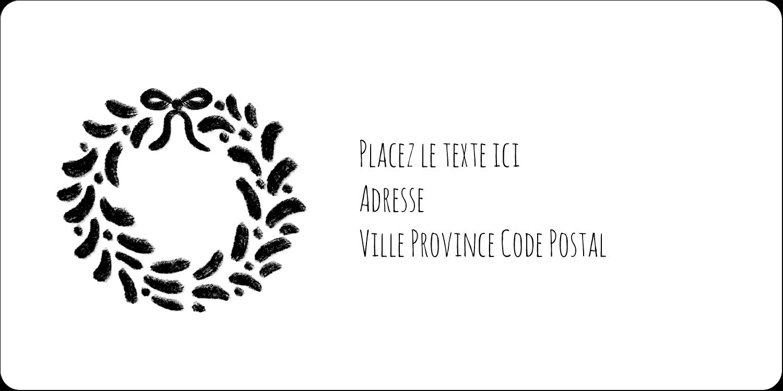 """3-7/16"""" x ⅔"""" Étiquettes de classement écologiques - Guirlande sur tableau noir"""