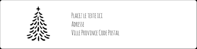 """1⅓"""" x 4"""" Étiquettes d'adresse - Sapin sur tableau noir"""