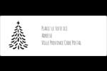 Sapin sur tableau noir Étiquettes d'adresse - gabarit prédéfini. <br/>Utilisez notre logiciel Avery Design & Print Online pour personnaliser facilement la conception.