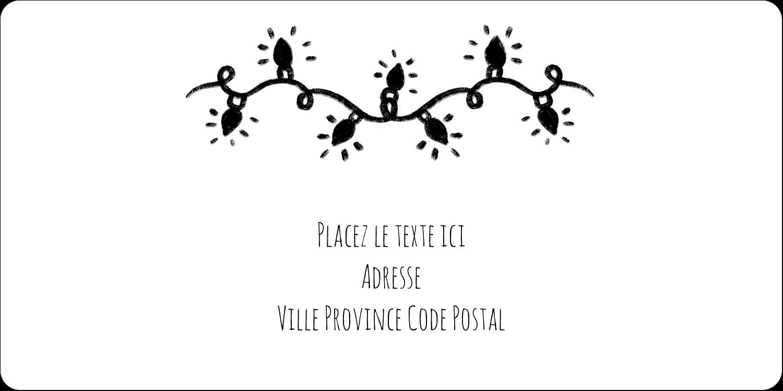 """3-7/16"""" x ⅔"""" Étiquettes de classement écologiques - Lumières sur tableau noir"""