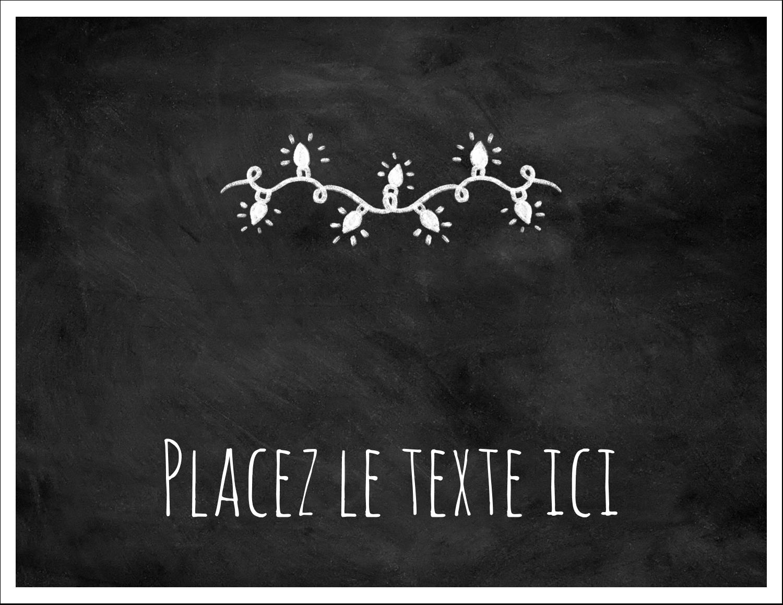 """8½"""" x 11"""" Cartes Et Articles D'Artisanat Imprimables - Lumières sur tableau noir"""