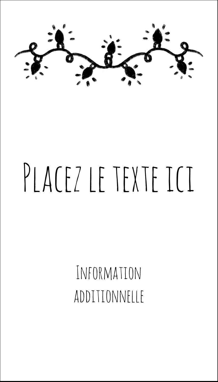 """2"""" x 3½"""" Carte d'affaire - Lumières sur tableau noir"""