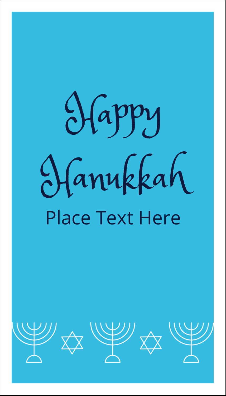 """3½"""" x 2"""" Business Card - Hanukkah Menorah"""