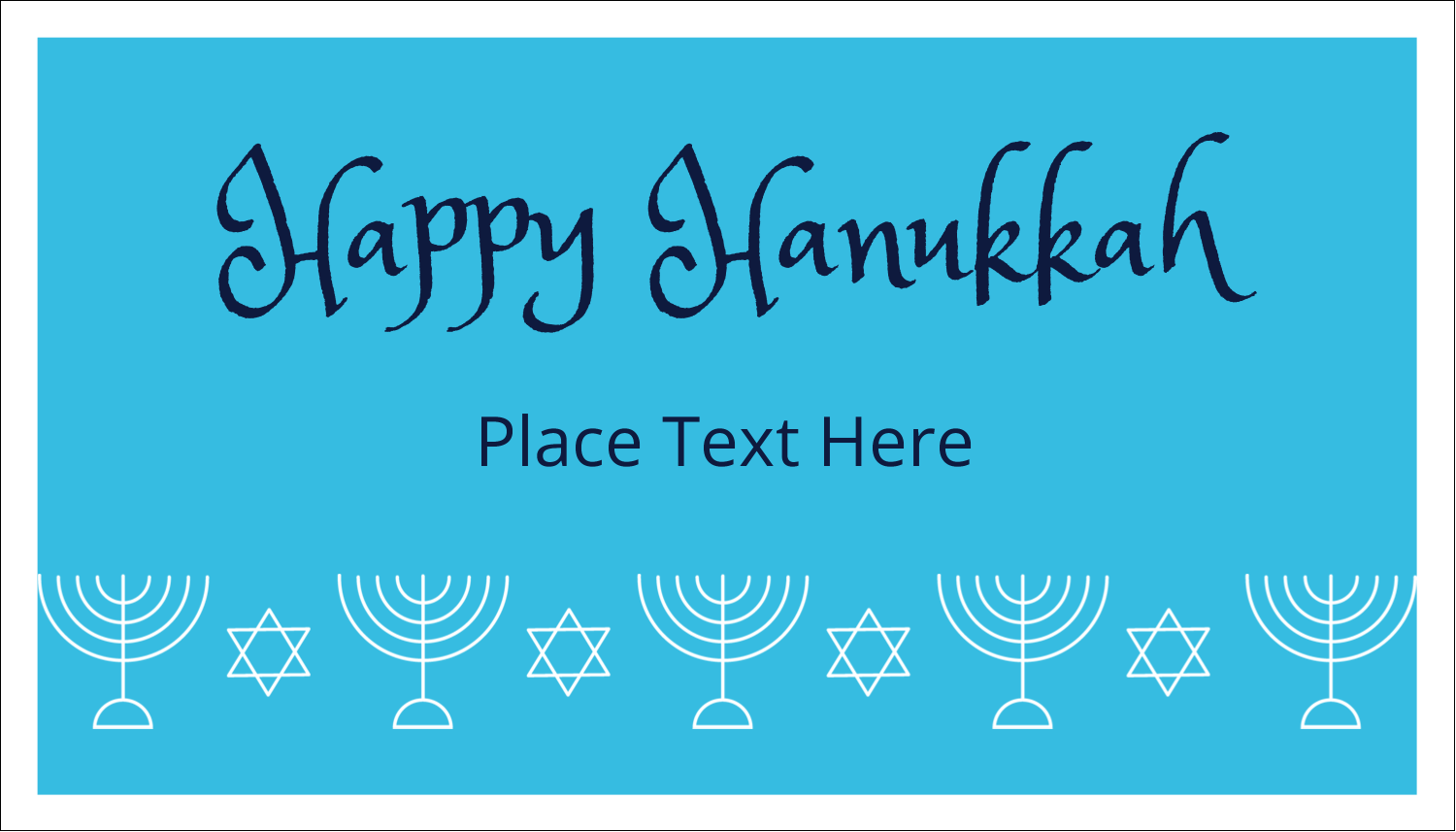 "2"" x 3½"" Business Card - Hanukkah Menorah"