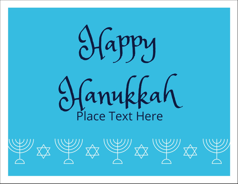 """5½"""" x 4¼"""" Note Card - Hanukkah Menorah"""