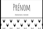 Motif de renne noir et blanc  Étiquettes à codage couleur - gabarit prédéfini. <br/>Utilisez notre logiciel Avery Design & Print Online pour personnaliser facilement la conception.