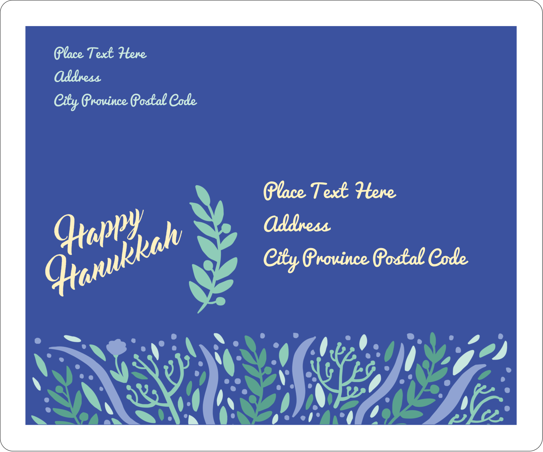 "3⅓"" x 4"" Shipping Label - Hanukkah Floral"