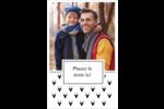 Motif de renne noir et blanc  Reliures - gabarit prédéfini. <br/>Utilisez notre logiciel Avery Design & Print Online pour personnaliser facilement la conception.