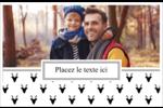 Motif de renne noir et blanc  Cartes de souhaits pliées en deux - gabarit prédéfini. <br/>Utilisez notre logiciel Avery Design & Print Online pour personnaliser facilement la conception.