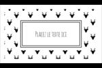 Motif de renne noir et blanc  Carte d'affaire - gabarit prédéfini. <br/>Utilisez notre logiciel Avery Design & Print Online pour personnaliser facilement la conception.