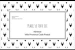Motif de renne noir et blanc  Étiquettes d'adresse - gabarit prédéfini. <br/>Utilisez notre logiciel Avery Design & Print Online pour personnaliser facilement la conception.