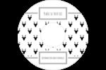 Motif de renne noir et blanc  Étiquettes Pour Médias - gabarit prédéfini. <br/>Utilisez notre logiciel Avery Design & Print Online pour personnaliser facilement la conception.